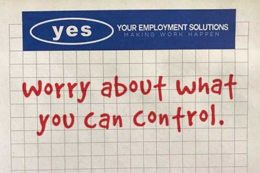 worry about what you can control