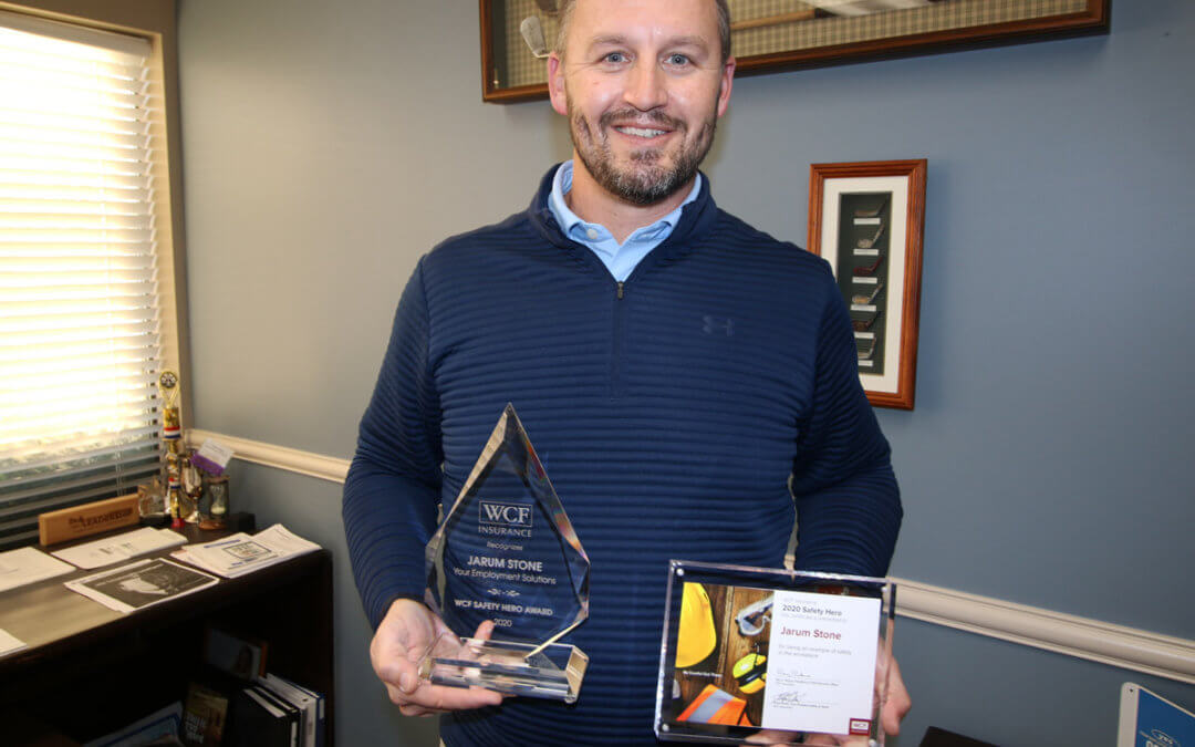 Jarum Stone Earns WCF Workplace Safety Award